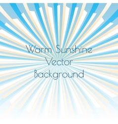 Warm sunshine rays vector image