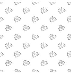 Wet wipe pack pattern seamless vector