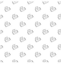 Wet wipe pack pattern seamless vector