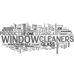 window cleaners text word cloud concept vector image
