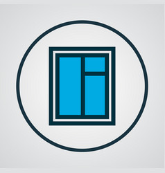 window icon colored line symbol premium quality vector image