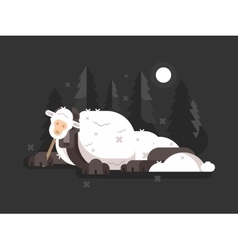 Wolf in sheeps clothing vector image