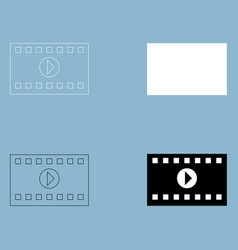 a frame from a movie the black and white color vector image vector image