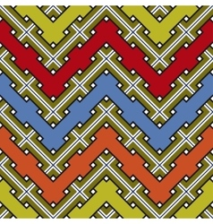 Abstract Ethnic Seamless Geometric Pattern vector image