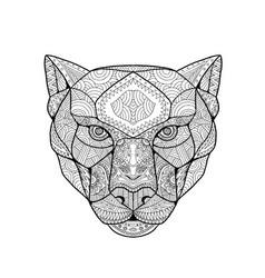 Black panther zentagle vector