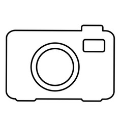 digital photo camera icon vector image vector image