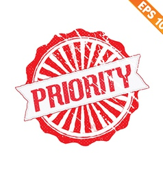 Rubber stamp high priority - - EPS10 vector image vector image