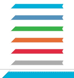 Side clean banners set vector image vector image