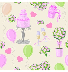 Wedding pink pattern vector