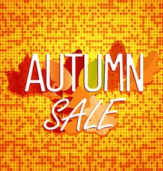 Autumn sale concept Color of autumn leaves vector image