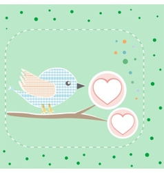 bird greeting card vector image vector image