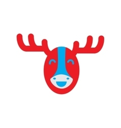 flat icon on white background Canadian moose vector image