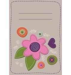 floral patchwork vector image