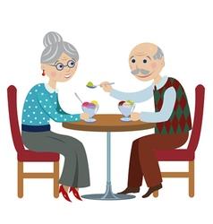 happy cartoon grandparents vector image