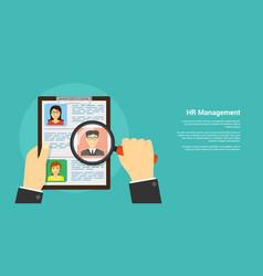 human resource concept vector image