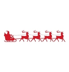 Santa Claus sleigh Christmas element isolated on vector image