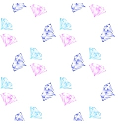shining diamonds seamless pattern vector image