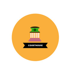 stylish icon in color circle building courthouse vector image vector image