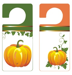 Banners with Pumpkin vector image vector image