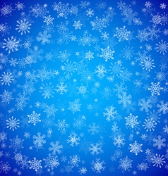 Blue Christmas background with different vector image