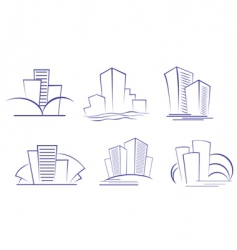 business buildings designs vector image vector image