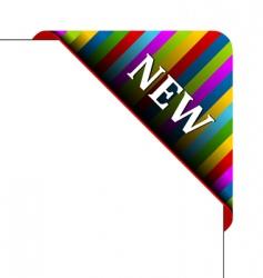corner business ribbon vector image vector image