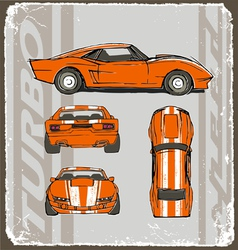 speed car turbo crack paint vector image vector image