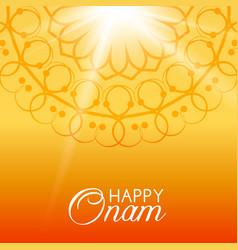 happy onam greeting card vector image