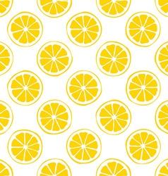 lemon seamless pattern white background vector image vector image