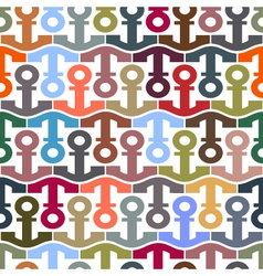 pattern with stylized anchors vector image vector image