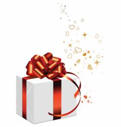 present with bow vector image vector image