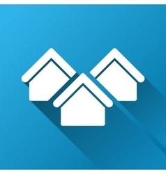 Real Estate Gradient Square Icon vector image