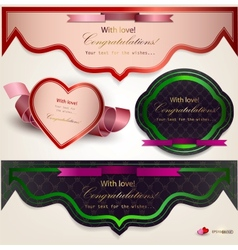 Set of holiday banners vector image vector image