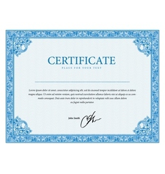 Template certificate currency and diplomas vector image vector image