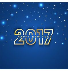 2017 New Year greeting card with stars and spot vector image