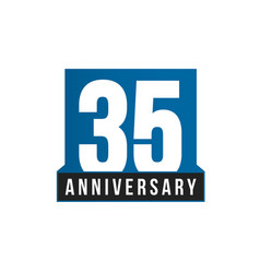 35th anniversary icon birthday logo vector image