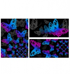 abstract butterly design vector image