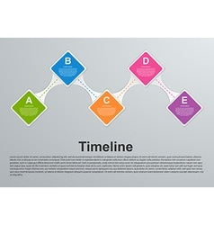 Abstract colorful options infographic vector