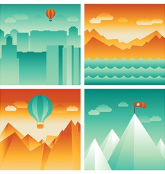 abstract landscapes vector image