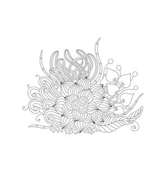 abstract monochrome floral background vector image