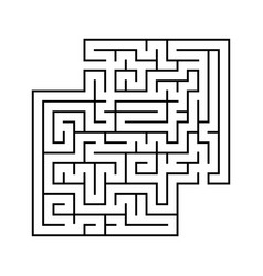 abstract square maze with entrance and exit vector image