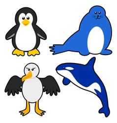 Antarctica Animals vector