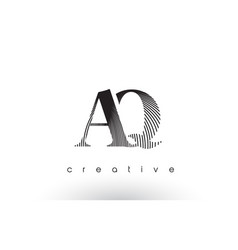 Aq logo design with multiple lines and black vector