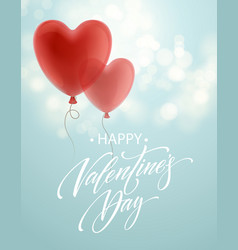 balloon hearts holiday flying red vector image