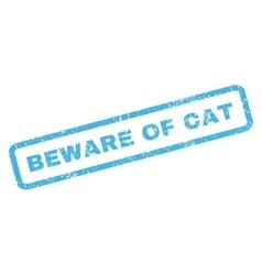 Beware Of Cat Rubber Stamp vector image