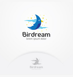 bird dream logo design vector image