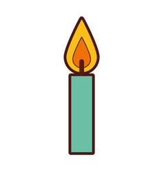 Birthday candles isolated icon vector