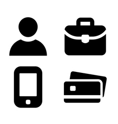 Businessman personal items vector image