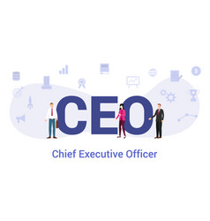Ceo chief executive officer concept with big word vector