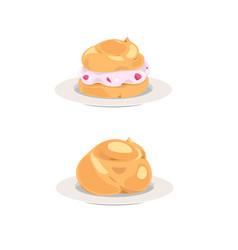 choux cream vector image